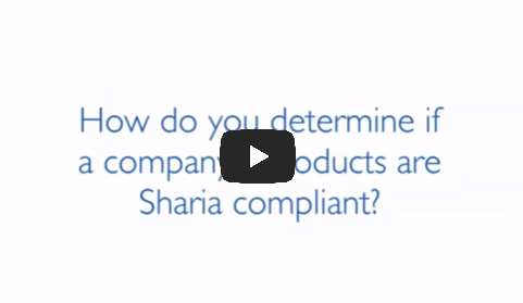 how do you determine if a company products are shariah